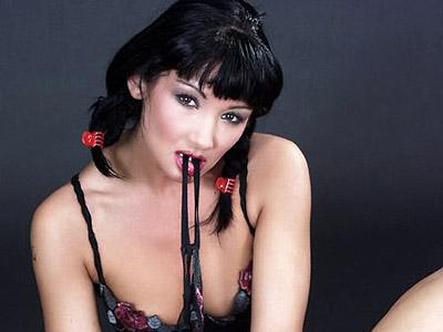Breasty pornbabe getting nude and enjoying dildoe play